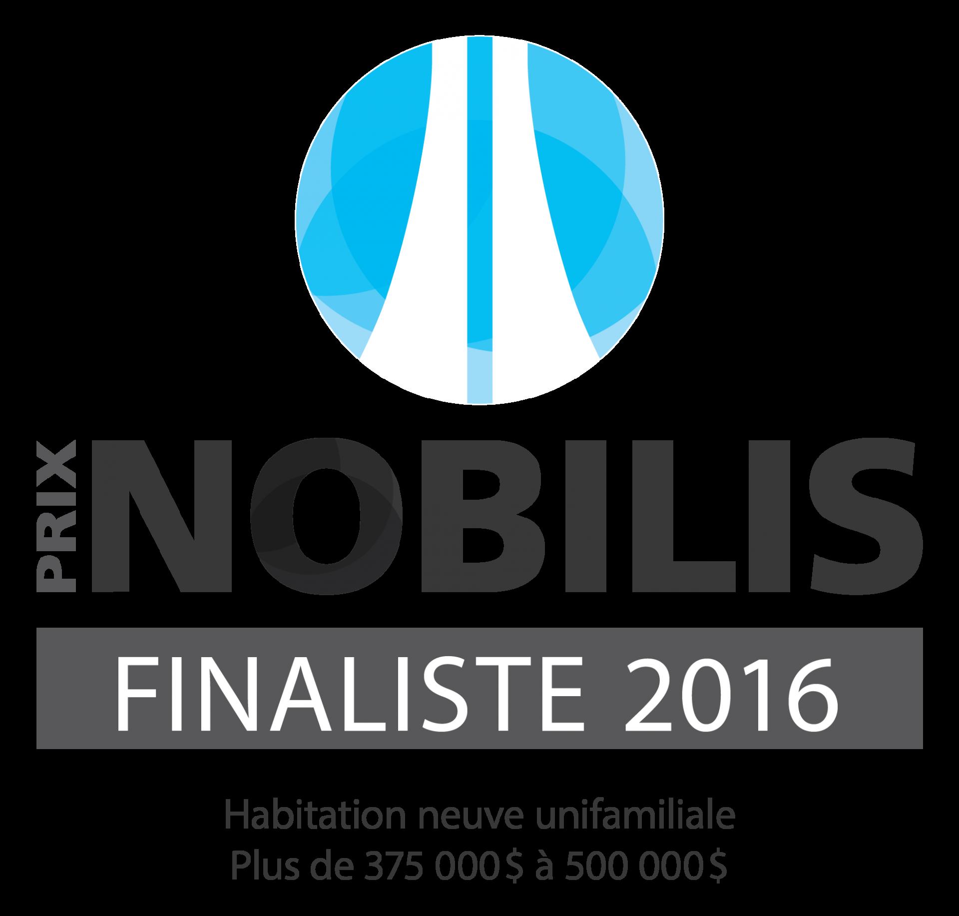 Nobilis 2016 - Plus de 375 à 500 - Finaliste