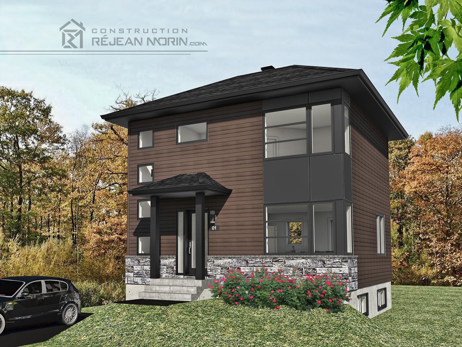 c 1002 rendu brun et noir. Black Bedroom Furniture Sets. Home Design Ideas